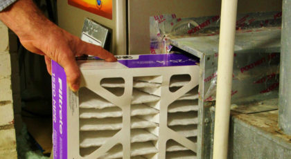 hvac filter cleaning